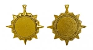 Медаль-орден многоконечная звезда 70 мм А-70-02
