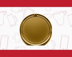Свадебная медаль с ангелочком и именным вкладышем на обороте
