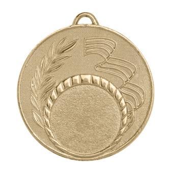 Медаль с  триколором без эмали М-50-04 Диаметр - 50мм