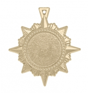 Медаль-орден многоконечная звезда А-50-02 Диаметр - 50 мм