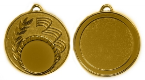 Медаль с  триколором без эмали М-50-04