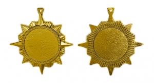 Медаль-орден многоконечная звезда 70 мм А-70-02 Диаметр - 70 мм