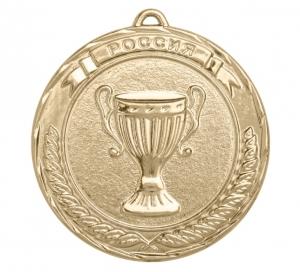 Универсальная медаль Россия с кубком УМ-70-01-3 Диаметр - 70 мм