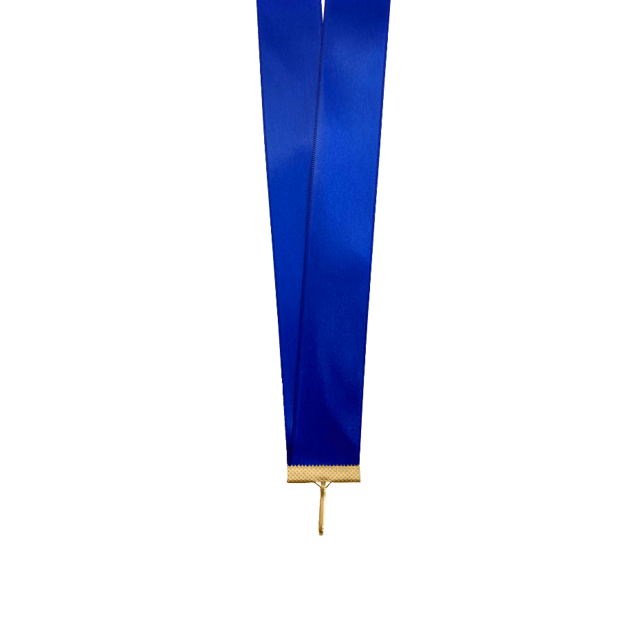 Лента сатиновая синяя