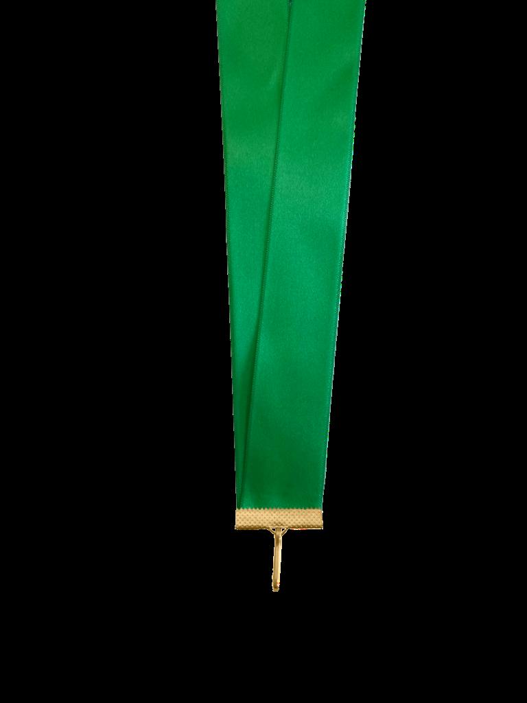 Лента сатиновая зеленая