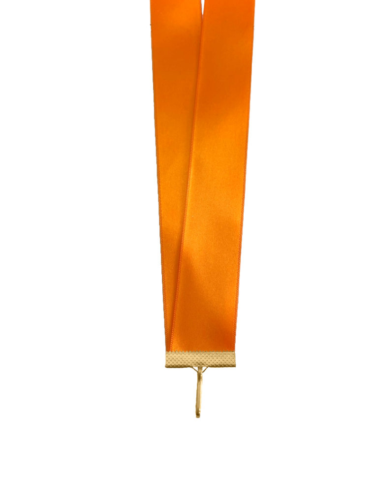 Лента сатиновая оранжевая