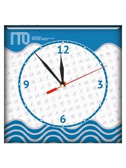 Часы из стекла с символикой ГТО