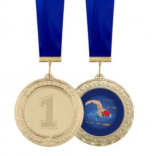 Медаль по плаванию 70мм
