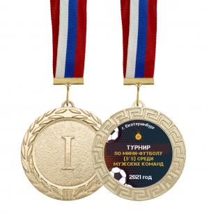 Медаль -  Турнир по футболу с лентой и вкладышем
