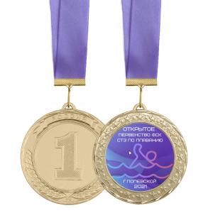 Медаль - Плавание 70мм