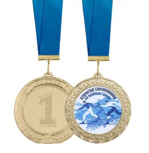 Медаль открытое соревнование по лыжным гонкам 70мм