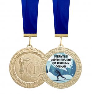 Медаль для награждения лыжников 70 мм